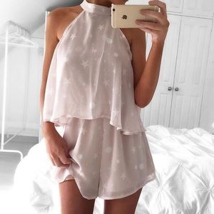 Sabo Skirt Blush Luna Playsuit